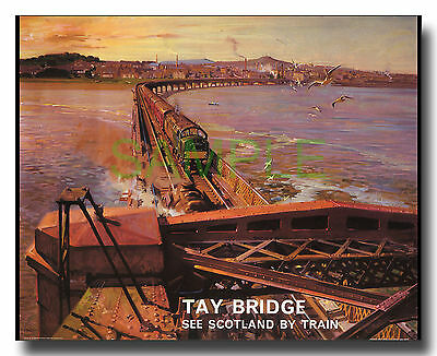 Tay Bridge English Electric Type 4 Type 40 loco framed repro poster Cuneo