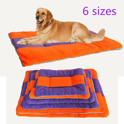 Fleece Pet Bed Cushion Mat Pad Dog Cat Kennel Crate Cozy Soft Blankets XXX-Large