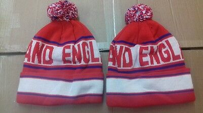England  Pom Pom  Bobble Hat  Beanie  Knitted Woolly Hat .new