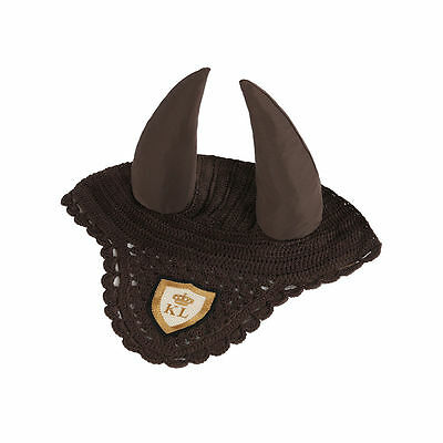 Kingsland Ever Fly Veil / Showjumping Ears - Green Wren (Brown) size Full