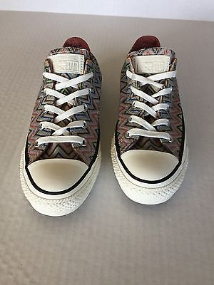 New Converse All Star Missoni Women Size 6M Lace-up Textile/Rubber Sneakers