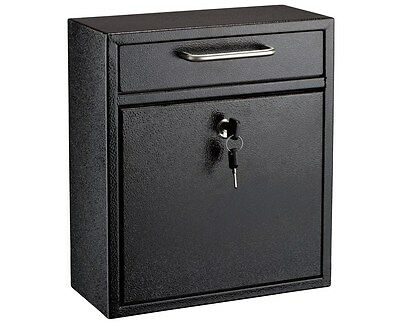 Adir Steel Medium Ultimate Drop Box Wall Mounted Mail Box 4x10x12 Choose Color