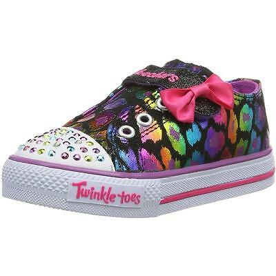 Skechers Twinkle Toes Dazzlin Girl Infant Black Textile Trainers