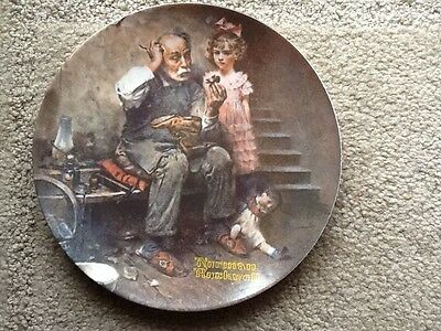 Norman Rockwell Limited Edition Collectors Plate: The Cobbler