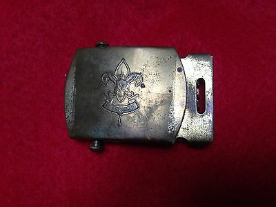 BOY SCOUT VENTIGE BRASS BELT BUCKLE 50's