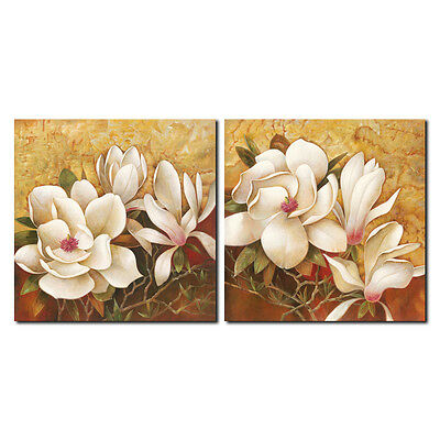 Canvas Print Painting Picture Landscape Home Decor Wall Art Flowers Brown Framed