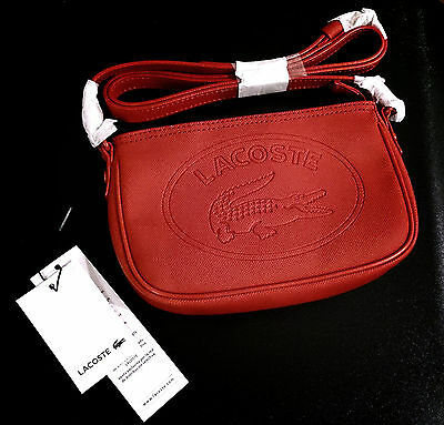 Lacoste Red Clutch Handbag  - 100% Authentic ----- New With Tags !