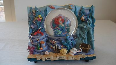 Disney Little Mermaid Ariel Snowglobe Storybook Grotto Wedding Scene- Reversible