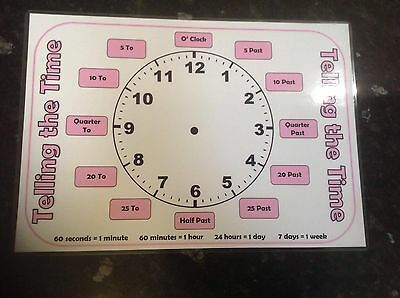 telling the time clock learn to tell the time selection of colours analogue time