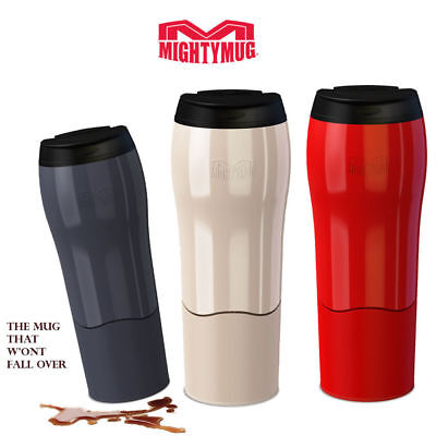 Mighty Mug Travel Car Mug 470ml No Spill Design Pearl Charcoal Red
