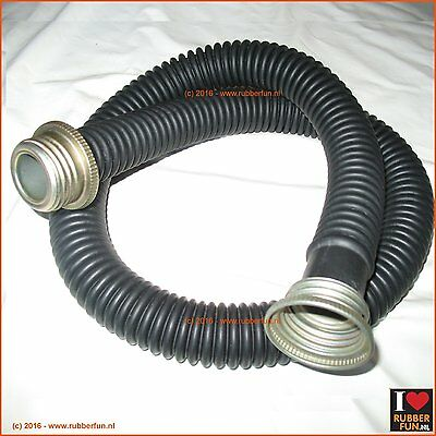 Rubber breathing hose - medical - corrugated - 40 inch (105 cm)