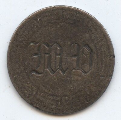 Love Token 1857 Seated Dime (#6774) Carefully Check out the Photos.