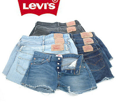 Levis Denim Shorts 501's Grade A Vintage High Waisted 4 6 8 10 12 14 16