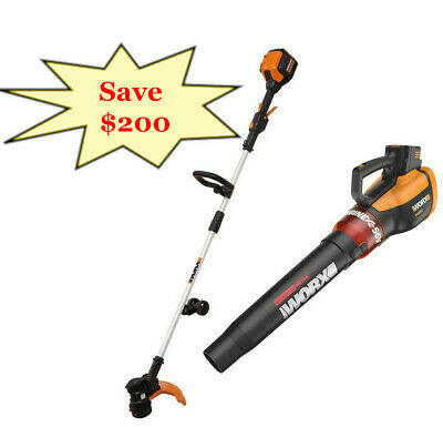 "WORX WG926 TURBINE 56V 13"" Cordless String Trimmer/Edger & Leaf Blower Combo"
