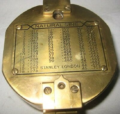 Heavy Brass Stanley London Compass – Repro Made in India
