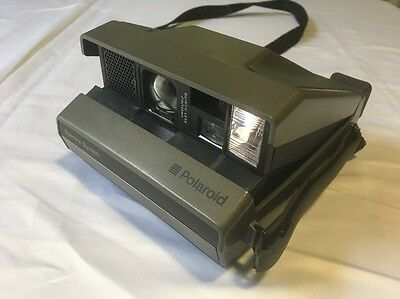 TESTED Polaroid Spectra System Instant Film Camera Working - Some Wear. Strap.