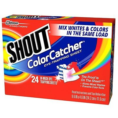 Shout Color Catcher In-Wash Dye-Trapping Sheets 24 ea