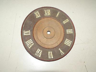 "Antique Coo Coo Clock Dial with roman numerals (except the ""X"") 5"" width"