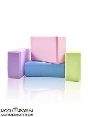 LUX Pilates Yoga Block Foaming Foam Brick Exercise Fitness Stretching Aid Gym UK