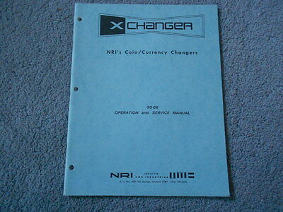 1973 NRI COIN CURRENCY CHANGERS 30-06 OPERATION and SERVICE MANUAL ORIGINAL