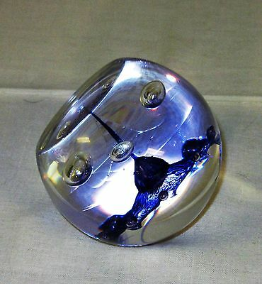 Caithness Communications Paperweight Scotland Purple & clear Glass 12 750