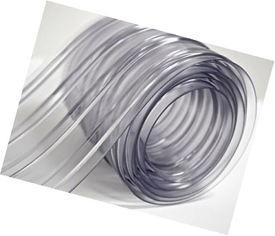 """150' Roll - 8"""" Wide Ribbed PVC Plastic Strip Curtain Coolers Warehouse Doors"""