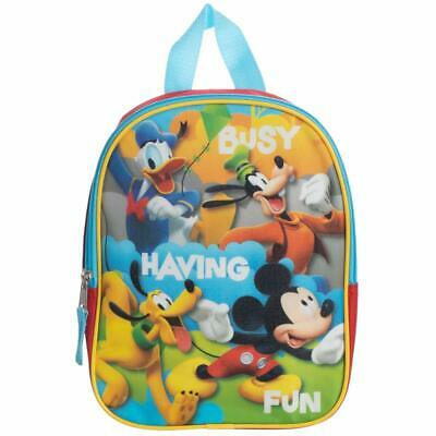 "Disney Mickey Mouse 10"" Little Boys Kids Toddler Backpack Cute PreSchool Bookbag"