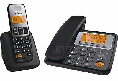 Binatone Concept 3505 Combo Telephone Twin Landline Double Phone Corded Cordless