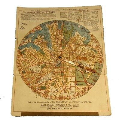 The Indicator Map of Sydney Old Map of Sydney 1923