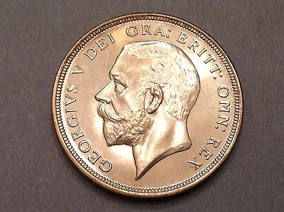 - 1927 Great Britain One Crown George V -  Proof Only Issue -15,030 minted