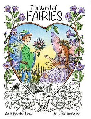 The World of Fairies: A Coloring Book for Adults Paperback