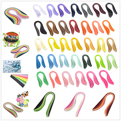Multi-color Quilling Paper Mixed Origami Paper Craft DIY 0.3/0.5/0.7/1/2.9cm
