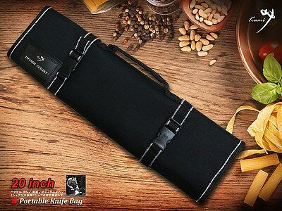 NEW Portable Knife Bag for Japanese Chef Knife Folded Carry Bag/Roll (9 Slots)