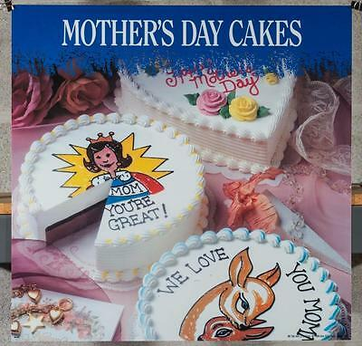 Dairy Queen Promotional Poster For Backlit Menu Sign Mothers Day Cakes dq2