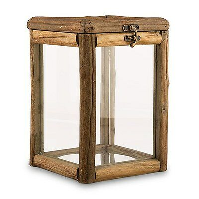 Rustic Wood Glass Box Wishing Well Wedding Reception Card Box Centerpiece Q17929