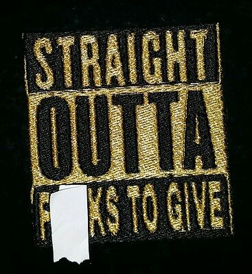 Straight outta f**ks to give biker motorcycle vest patch iron on custom made