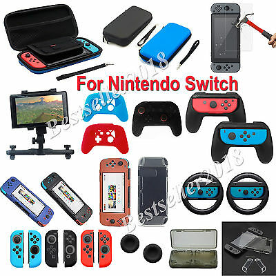 12 Kinds For Nintendo Switch Shell Carrying Bag Case /Film/Controller Grip/Mount