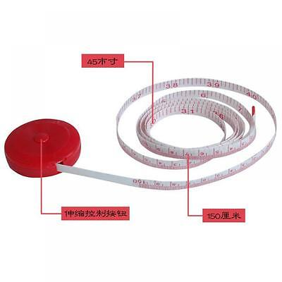 Fashion Sewing Round Pocket 150cm Tapeline Tape Measure Ruler