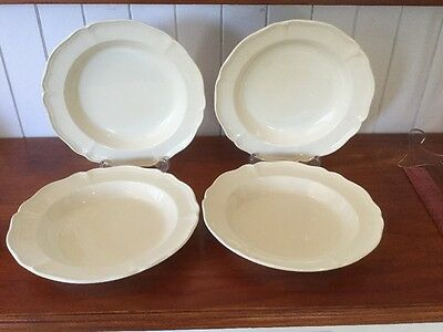 Set Of 4 Wedgwood QUEEN'S  SHAPE Rimmed Soup Bowls 20.5cm
