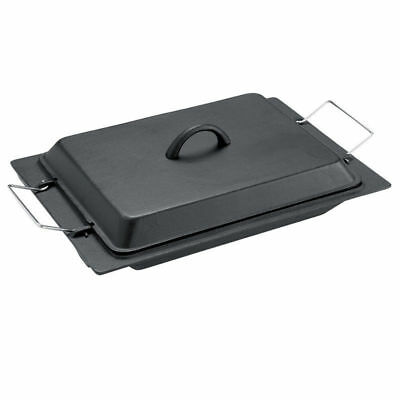 Gasmate Cast Iron Roasting Dish With Lid - 240Mm (Bdc240)