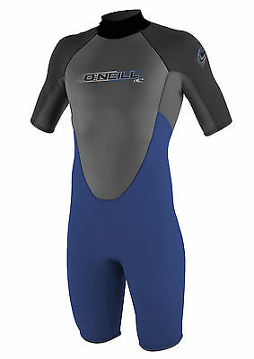O'Neill Reactor 2mm Mens Shorty Wetsuit (2017) in Blue & Grey