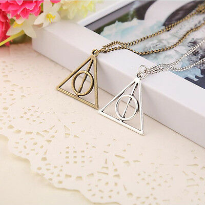 Hot Movie  Fashion  -Deathly Hallows Metal Silver Necklace Pendant As Gifts