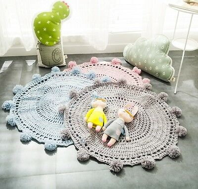 Hand Knitted Baby/ Kids Floor Mat/ Play Mat 80 x 80cm