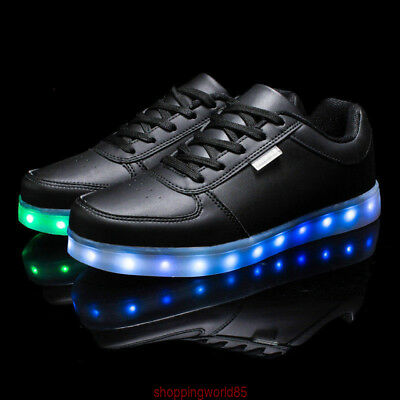Unisex Simplicity LED Light Up Casual Sportswear Luminous Dance  Sneaker Shoes A