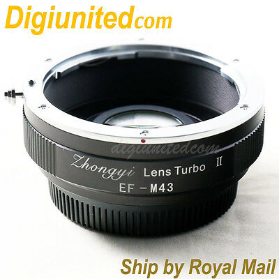 Zhongyi Lens Turbo II Reducer Booster Canon EOS EF to Micro 4/3 Adapter MFT OM-D