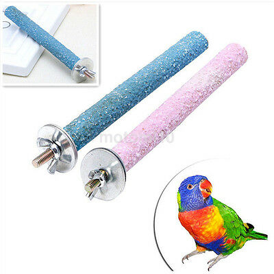 Bird Cage Perches Stand Platform Chew Toy Paw Grinding Clean for Parrot Parakeet