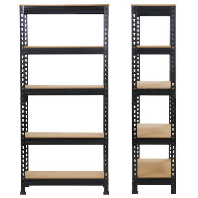 1/2/3/4 Heavy Shelf Garage Steel Metal Storage 5 Level Adjustable Shelves Rack
