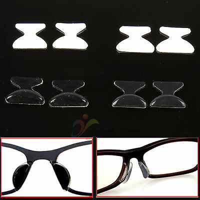 5 Pairs Soft Silicon Anti-Slip Stick On Nose Pads for Eyeglass Sunglass Glasses