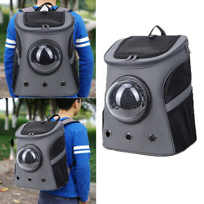 NEW Capsule Transparent Breathable Backpack Carrier Travel Bag For Dog Cat Pet