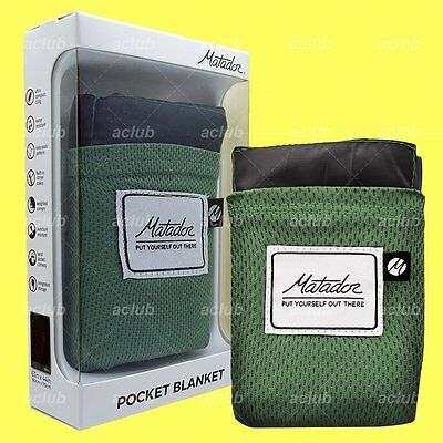 "Matador Pocket Blanket Version 2.0 Ultralight Waterproof Green 63""x44"" CERTILOGO"